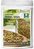 Fennel Seeds, 1 Pound - Organic Foeniculum Vulgare Raw Whole Seeds