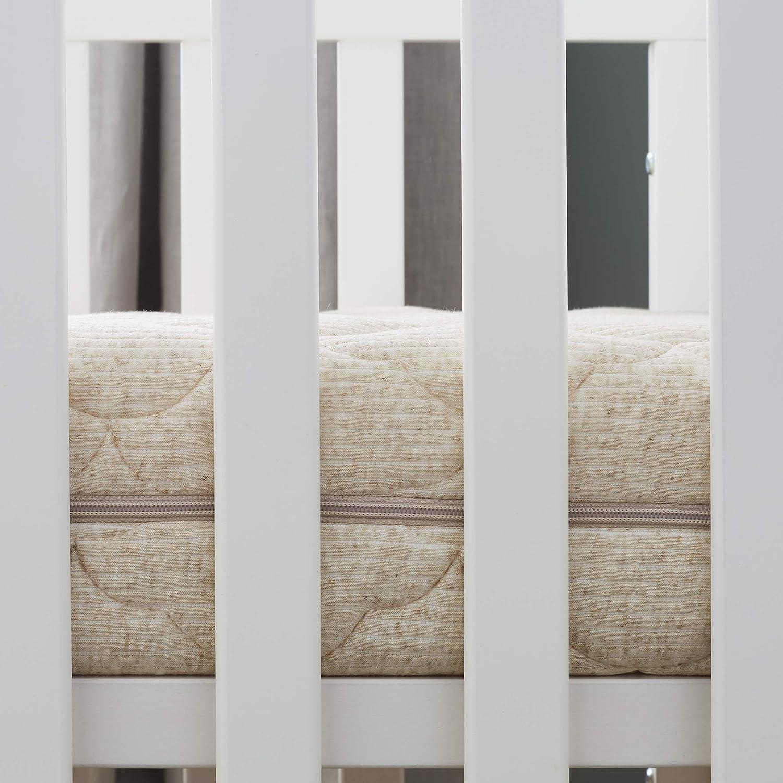 Oeko Tex/® Matelas B/éb/é Authentique Fabrication Fran/çaise sans Traitement Chimique D/éhoussable Lin dorigine v/ég/étale : Naturellement Thermor/égulateur 60x120 cm PTIT LIT