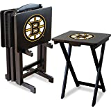 Imperial Officially Licensed NHL Merchandise: Foldable Wood TV Tray Table Set with Stand
