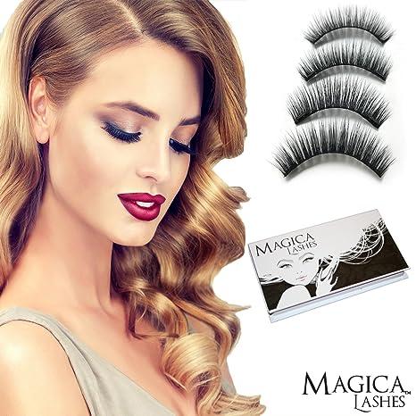 Pestañas Magnéticas, Dual Magnetic Eyelashes, 100% 3D Mink Pestañas, Reutilizable Es Libre