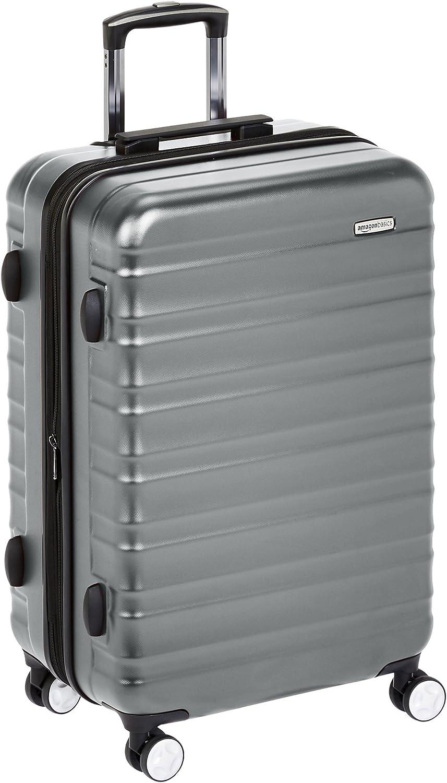 AmazonBasics - Maleta rígida de alta calidad, con ruedas y cerradura TSA incorporada - 68 cm, Gris