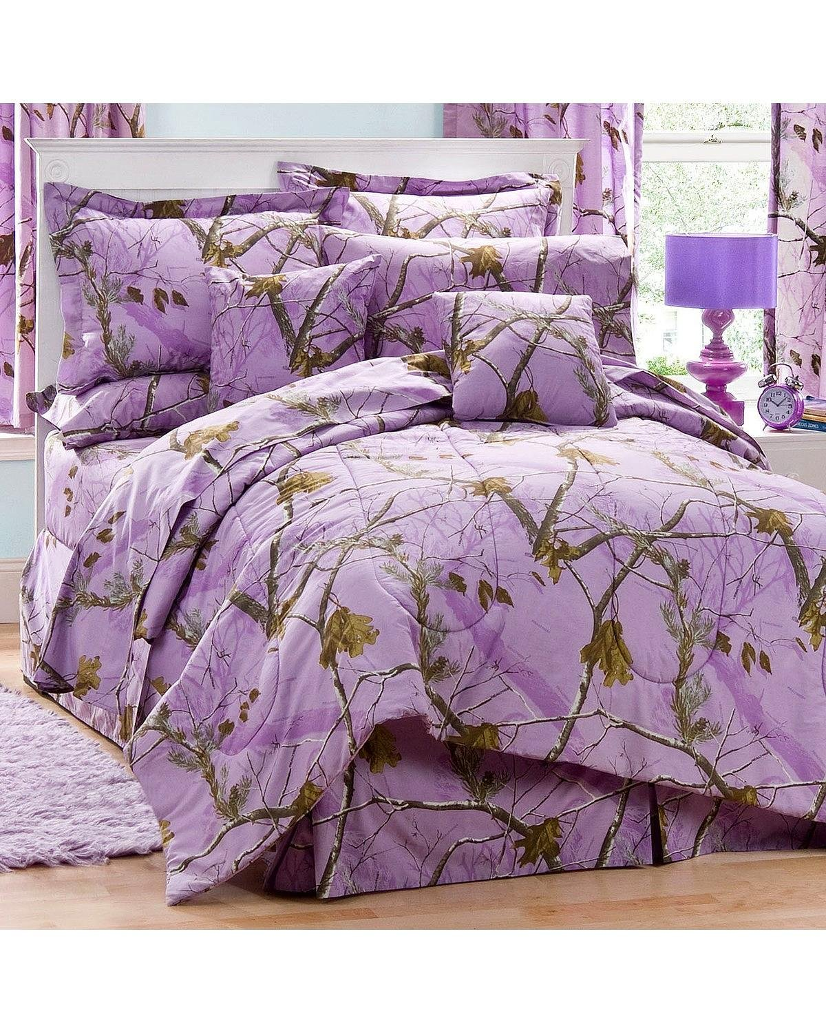 Kimlor Mills Realtree APC Comforter Set, Queen, Lavender Inc. us home KIMSN 07176000082RT
