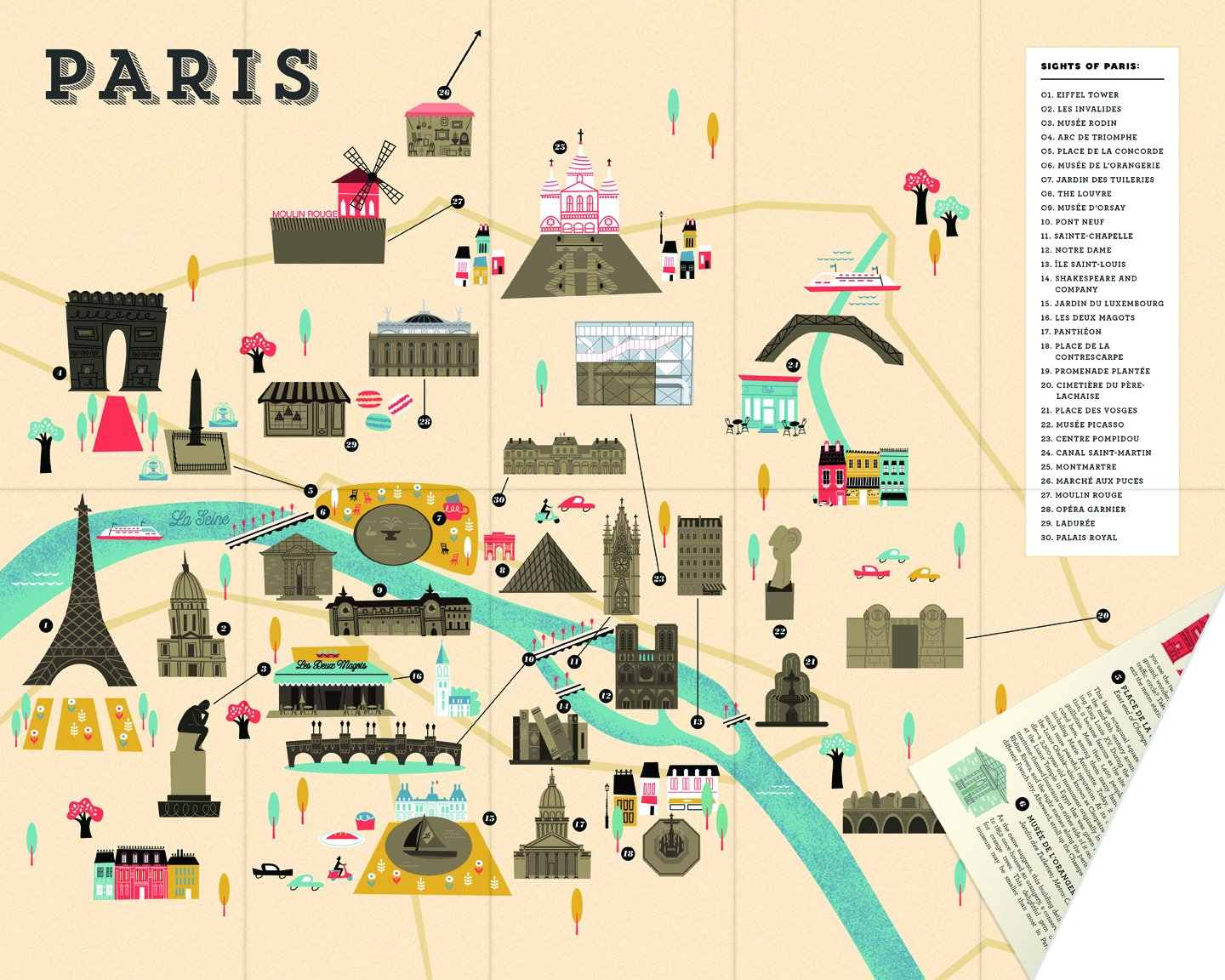 City Scratchoff Map Paris A SightSeeing Scavenger Hunt