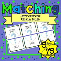 Calculus Derivatives: Chain Rule Matching Game