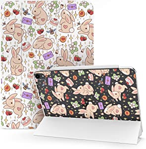 Lex Altern Case Compatible with iPad Pro 12.9 2020 11 Air 3 2 10.8 8th Gen 2019 2018 10.5 inch Mini 5 4 9.7 Kawaii Bunny Strawberry Flip Auto Wake Sleep Cute Bees Stars Flowers Clear Protective mch046