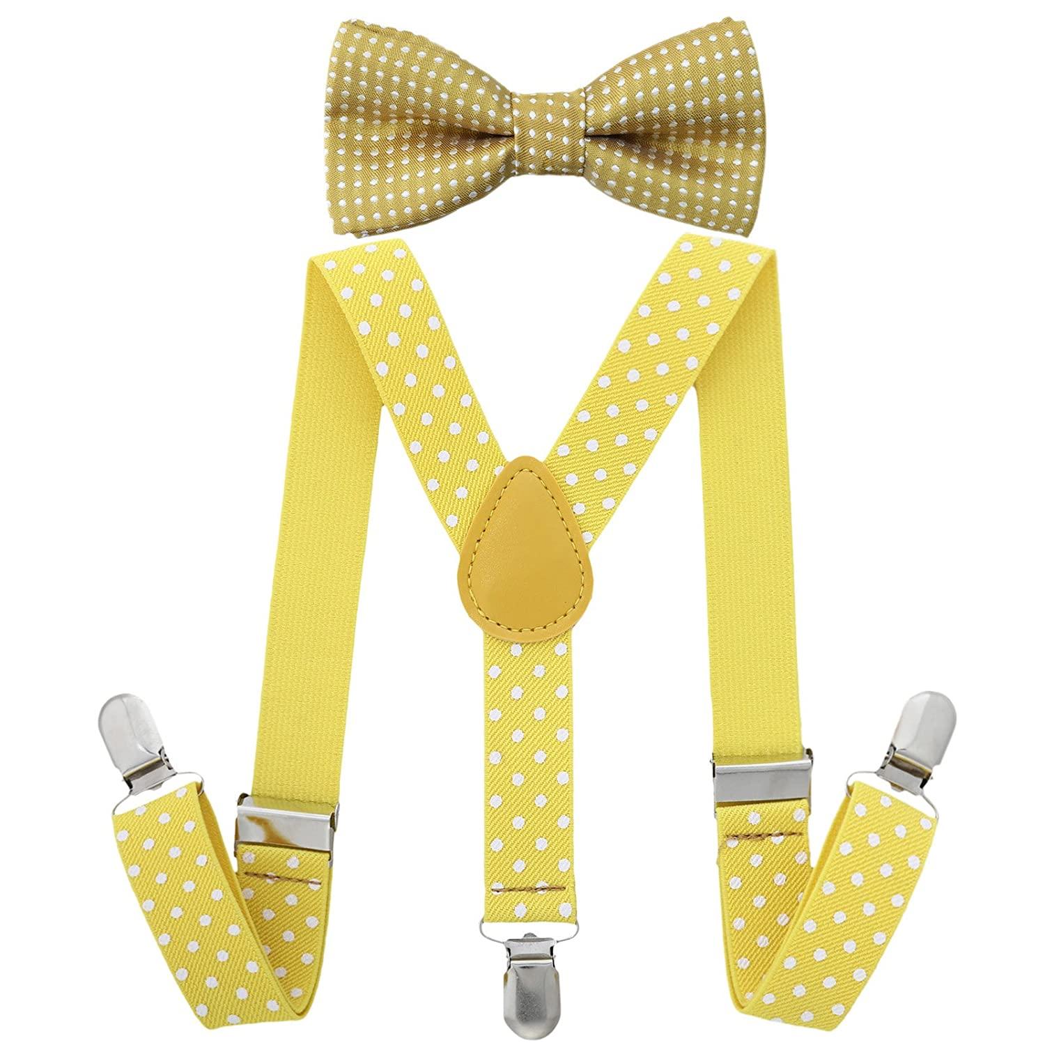 Children Kids Braces Bow tie set- Adjustable elastic Suspenders with Bowtie set for Boys & Girls by AWAYTR 0611BDXW324
