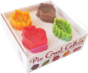 Talisman Designs Pie Crust and Cookie Dough Plunger Cutters, 4-Piece Set