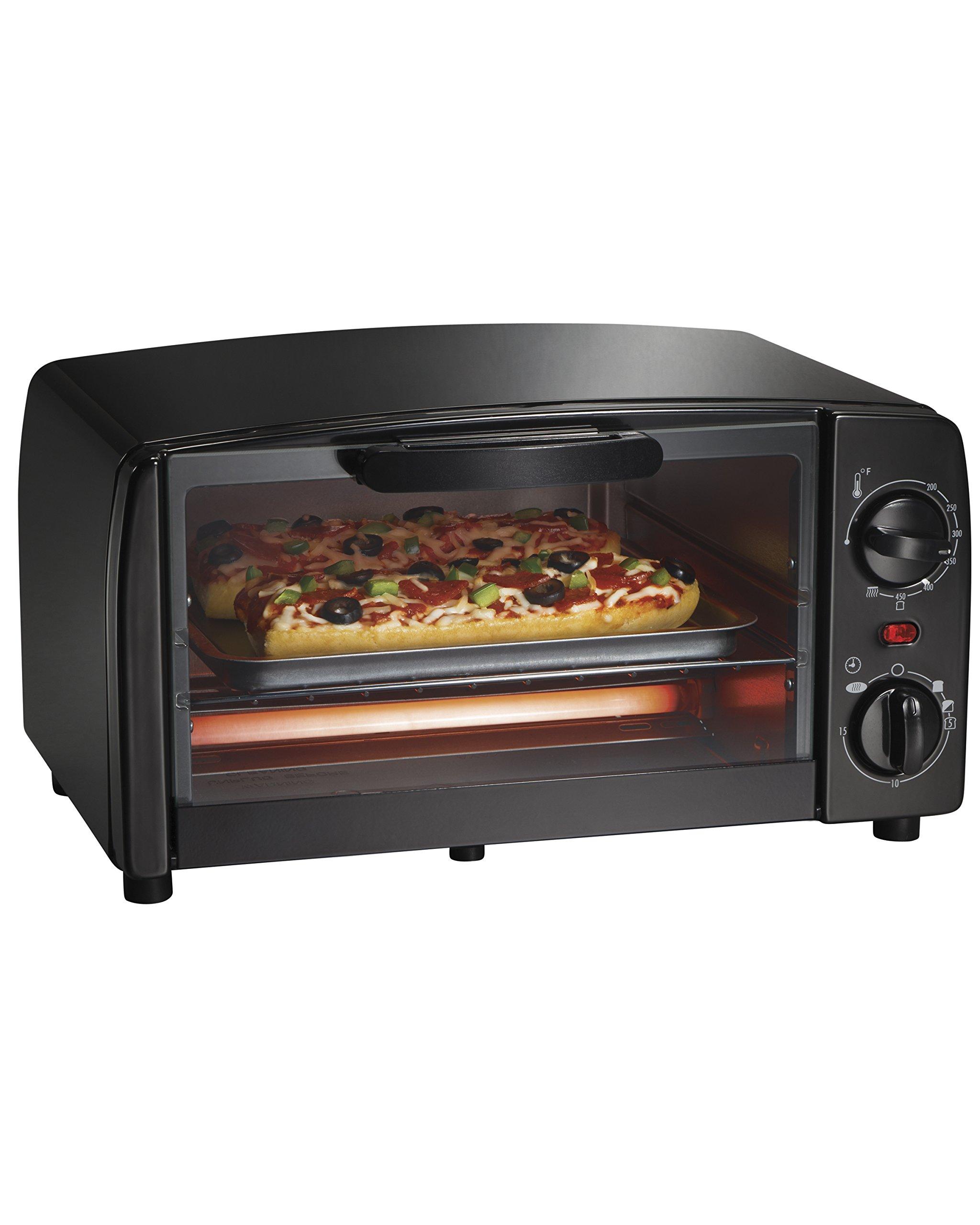 Hamilton Beach Proctor Silex 4-Slice Toaster Oven, Black (31118R), One Size, by Hamilton Beach