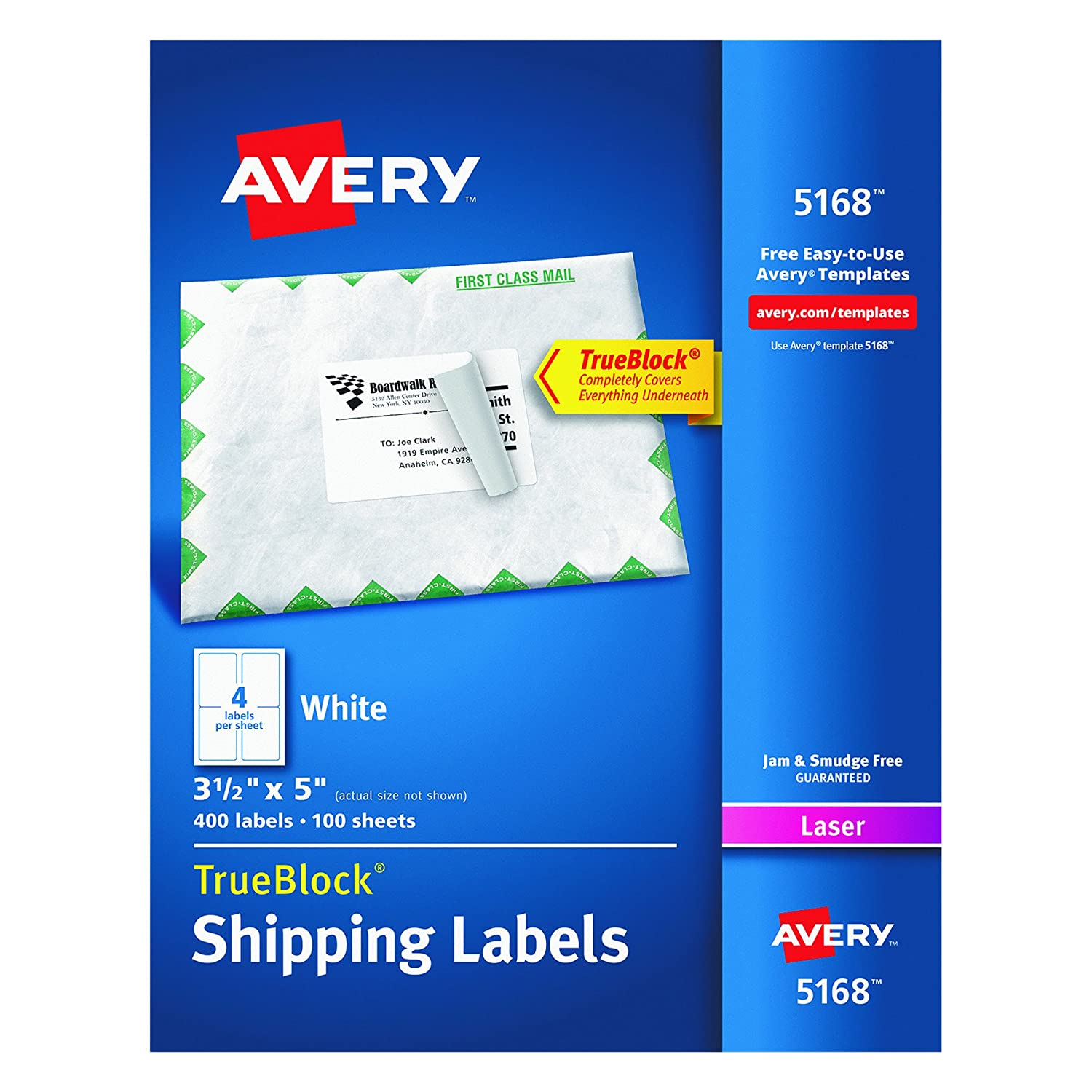 Amazon avery shipping labels with trueblock technology for amazon avery shipping labels with trueblock technology for laser printers 3 12 x 5 box of 400 5168 office products pronofoot35fo Gallery