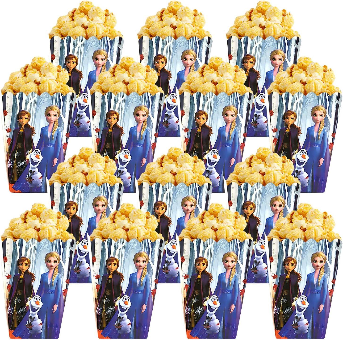 Qemsele Bolsas de Palomitas de maíz, 30 Cajas de Palomitas de maíz contenedores de Palomitas de maíz para Fiestas de cumpleaños, Noches de Cine, ...