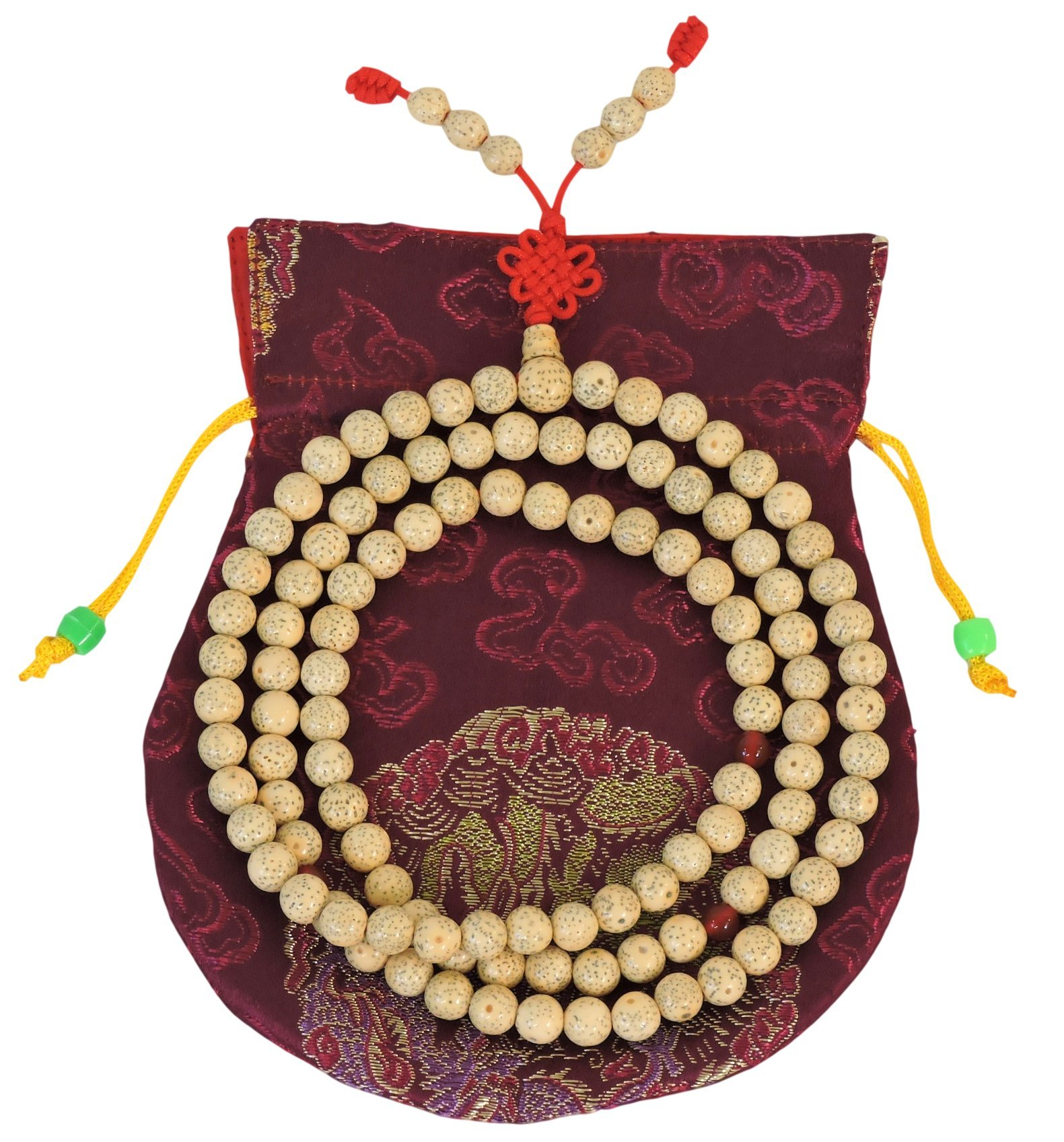 Tibetan Lotus Seed Mala 108 Beads for Meditation GMS-37 by Hands Of Tibet