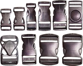 100 Steckschnallen 40mm Steckschließer Steckverschluss Gurt Schnalle