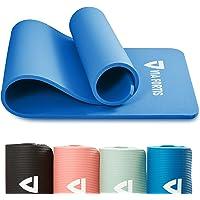 VIA FORTIS Gymnastikmatta inklusive bärrem – halkfri och robust (193 x 61 x 1,5 cm) – sportmatta, yogamatta idealisk för…