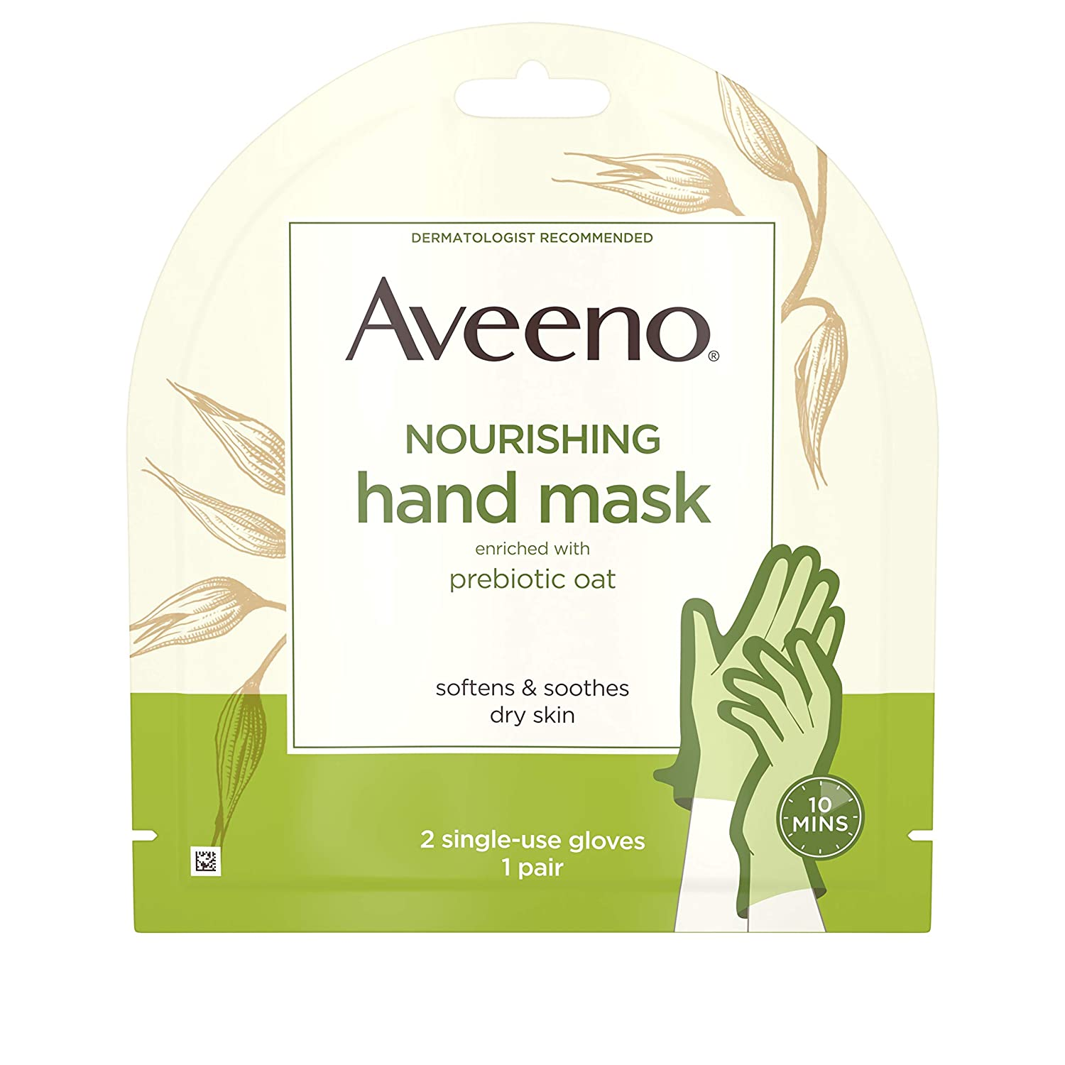 Aveeno Moisturizing Hand Therapy Mask With Oat - 2 Ea, 2count