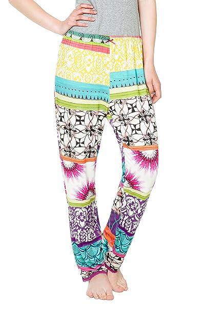 Desigual Pantalon Botanical Dream, 3048 Lila FLANDES, L/XL, Mujer, Violet