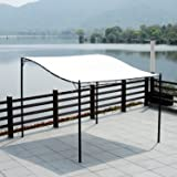 Outsunny 3m x 3m Deluxe Canopy Metal Wall Gazebo Awning Garden Marquee Shelter Door Porch