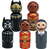 Bif Bang Pow! Black Panther Movie Pin Mate Wooden Figure (Set 5)