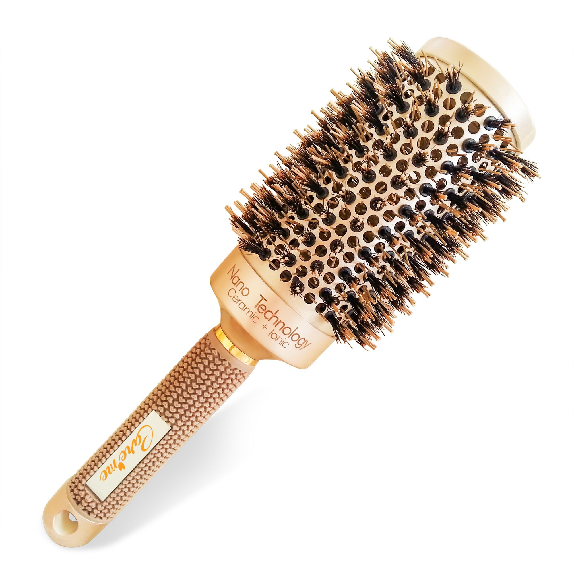 Blow Dry Round Hair Brush with Natural Boar Bristles for Blow-drying | Straightening - Best Roller Brush for Long hair or Want Straight | Wavy Smooth Hair (2'')