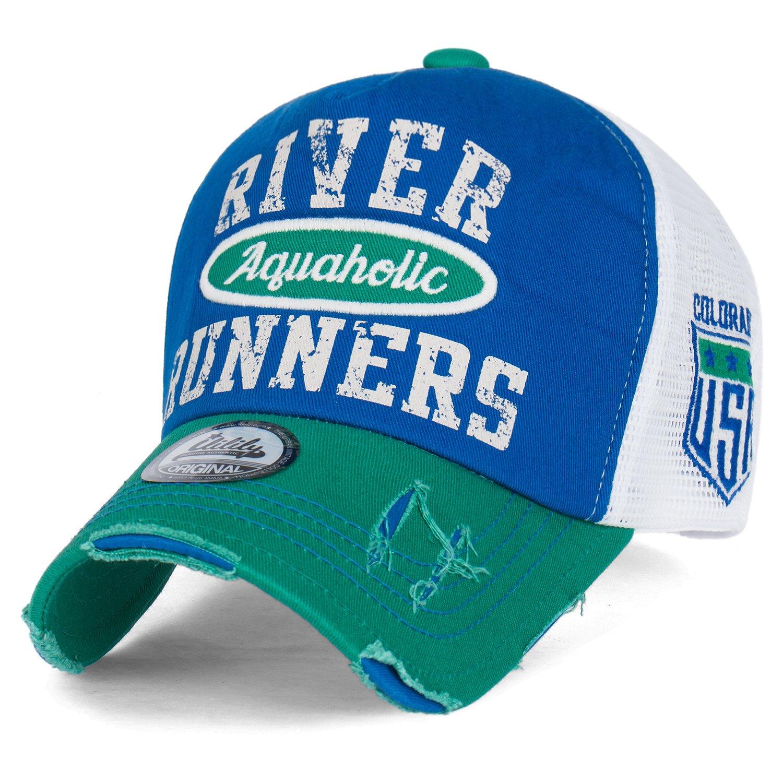 0c153cca ililily River Runners Aquaholic Colorado Vintage Trucker Hat Baseball Cap,  Green, Medium
