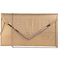 Fiona Trends Women's Gold Rexine Sling Bag (FT10-Gold)