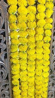 Amazon Com Craffair Artificial Marigold Flower Strings Orange Color