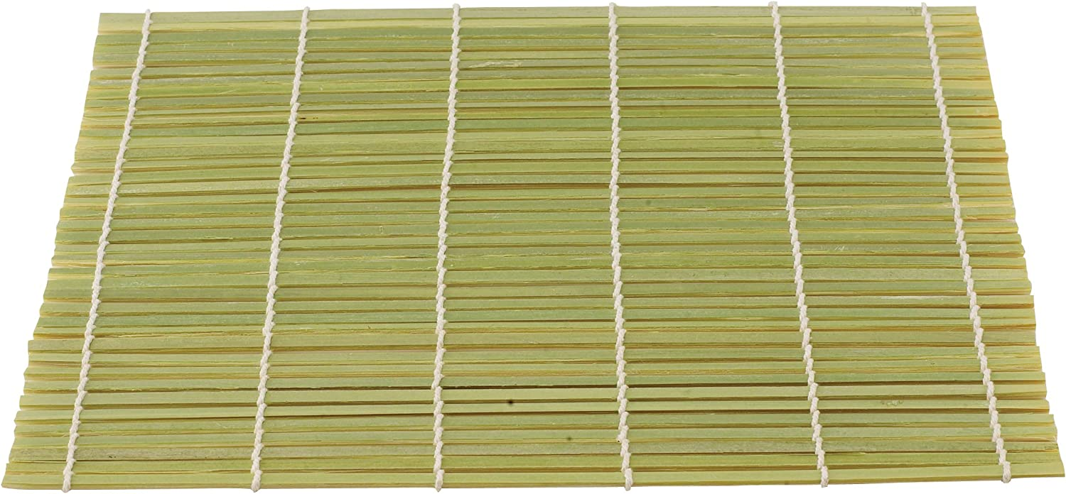 Helen's Asian Kitchen Sushi Mat, 9.5-Inches x 8-Inches, Natural Bamboo: Kitchen Tool Sets: Kitchen & Dining