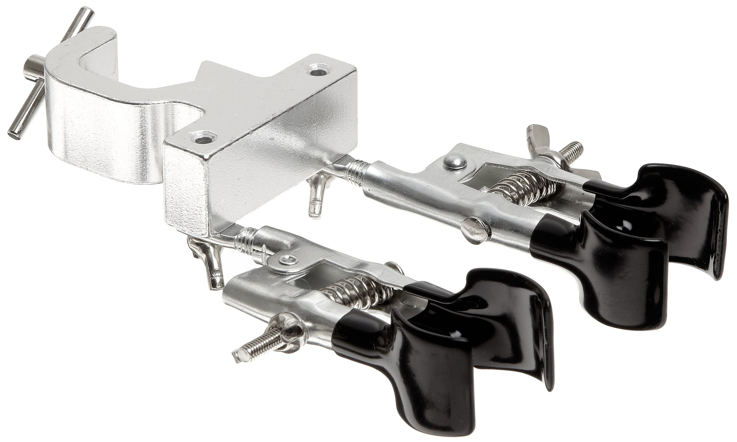 American Educational Double Burette Clamp with Rubber-Coated Rotating Jaws, 3/8'' - 1-3/8'' Holding Size