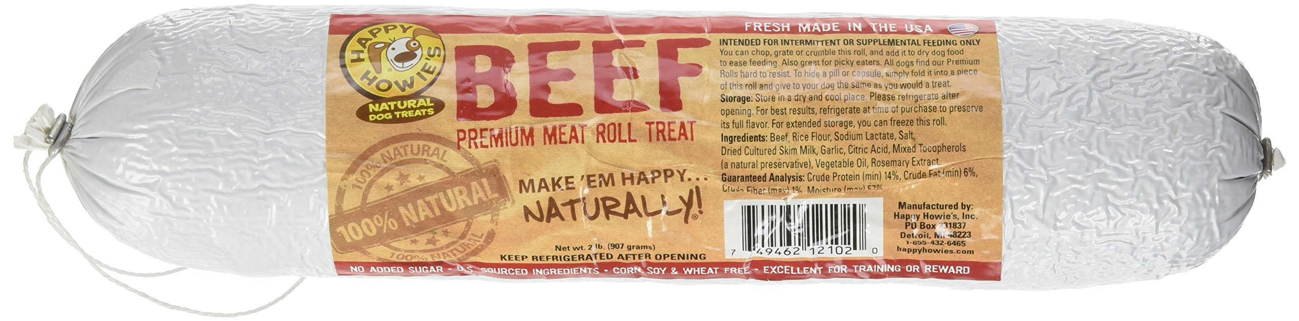 Happy Howie's Beef Roll 2 pack
