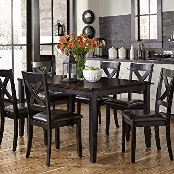 Amazing Liberty Furniture Industries Thornton Ii 7 Piece Rectangular Table Set W36 X D60 X H30 Caraccident5 Cool Chair Designs And Ideas Caraccident5Info