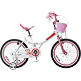 RoyalBaby Jenny & Bunny Girl's Bike with basket, 12, 14, 16 or 18 inch girls bike with training wheels, gifts for kids, girls' bicycles
