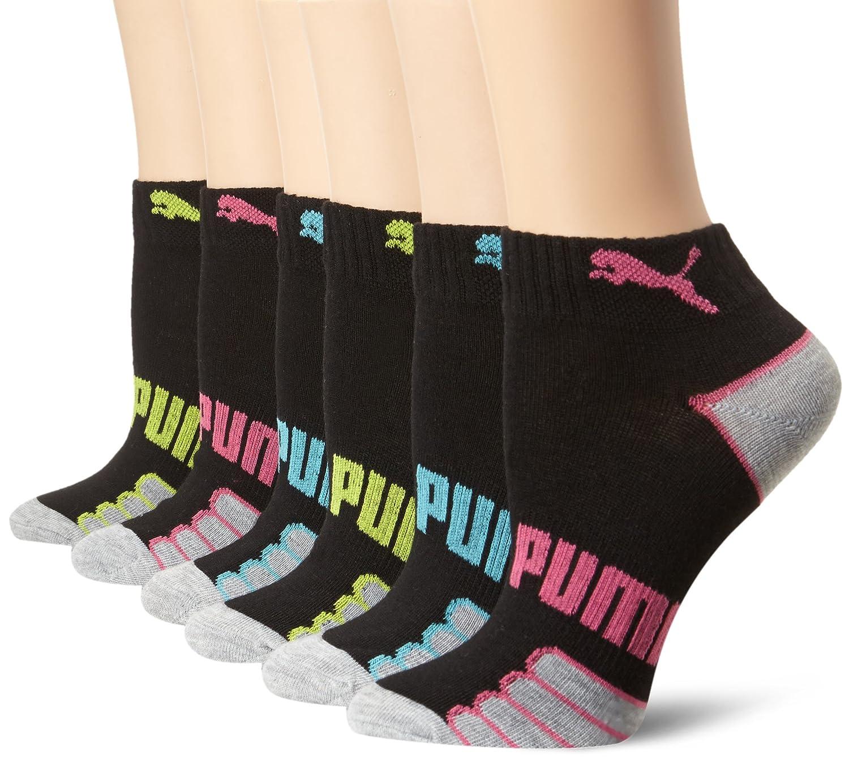 PUMA Women's 6 Pack Quarter Crew Socks Black/Bright 9-11 Puma Women's Socks P79942AZ