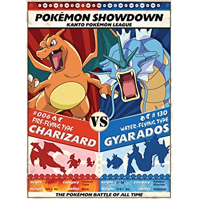 Buffalo Games - Pokemon Showdown: Charizard V. Gyarados - 1000 Piece Jigsaw Puzzle: Toys & Games
