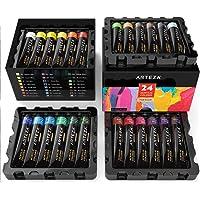 ARTEZA Acrylic Premium Artist Paints Set - 24 Colors (24 x 22 ml / 0.74 US fl oz)