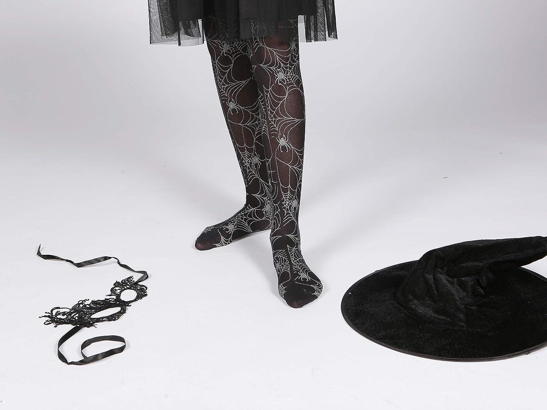 38d4f4bf9 HosieryDirectcouk Girls black halloween tights with silver spiderweb design  (Age 3-4)
