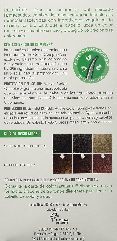 Farmatint Gel 5M Castaño Claro Caoba. Tinte permanente. Cabello natural y color duradero. Sin amoníaco ni parabenes ni parafinas ni siliconas.