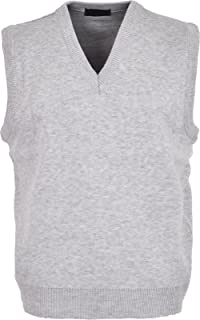 2278b34645 Maan Store Mens V Neck Knitted Tank Top Slipover Sweater Sleeveless Jumper  Small to 6XL