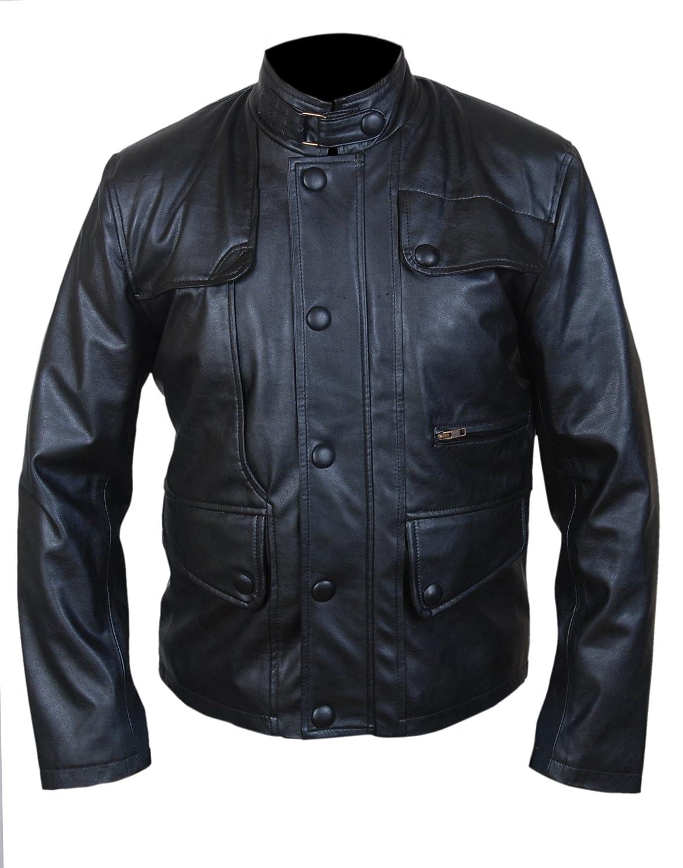 Men's T5 Terminator Genisys Arnold Genuine Leather Jacket