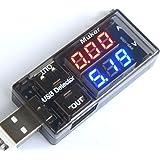 Muker® 10VA USB Multimeter Tester Strom(A) Spannung(V) 2 Output Ports