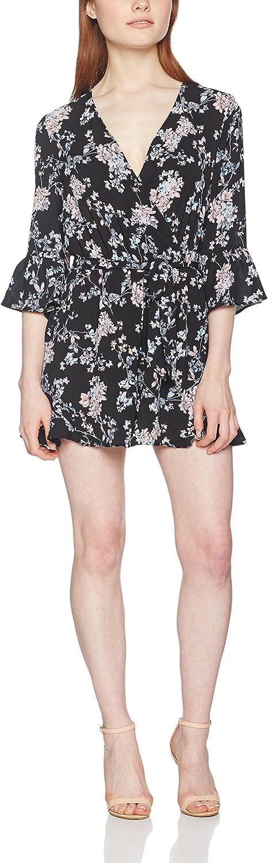 Miss Selfridge Petite Printed Fluted Sleeve, Mono Corto para Mujer