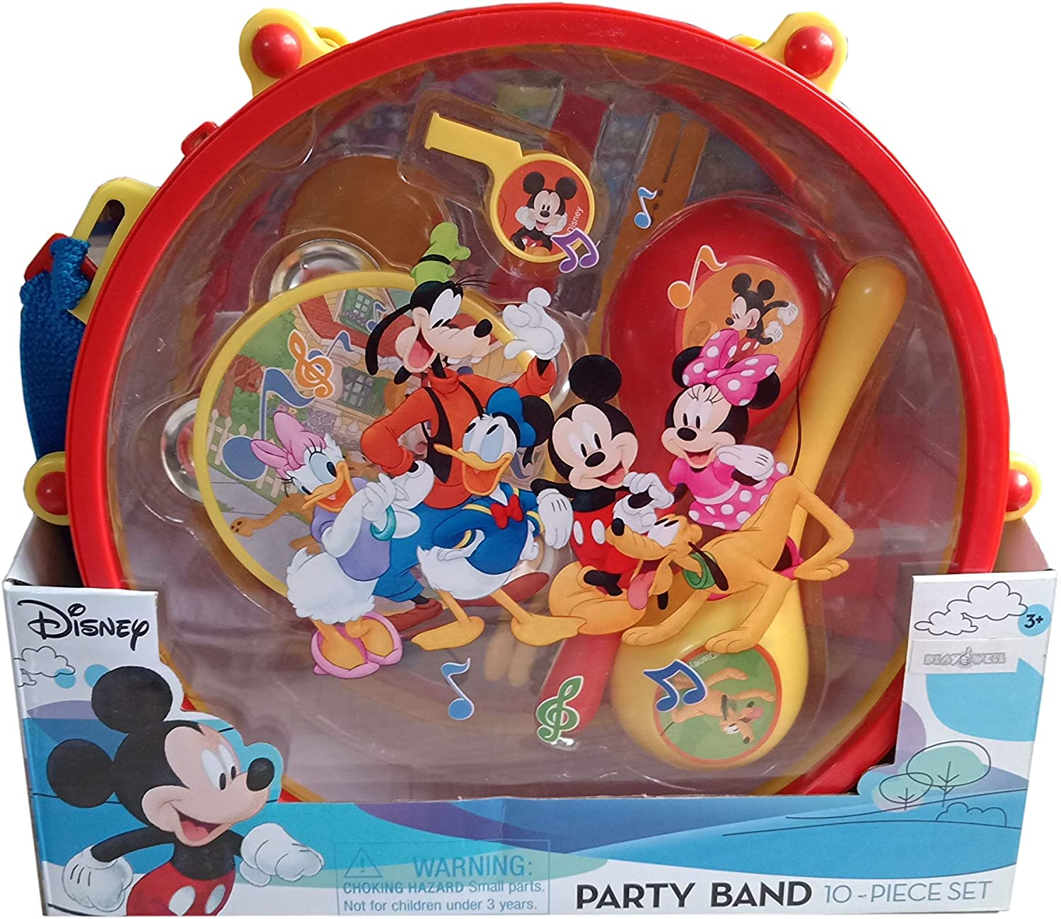 Amazon.com: Disney Mickey Mouse Clubhouse Mickey's Party Band 10 ...