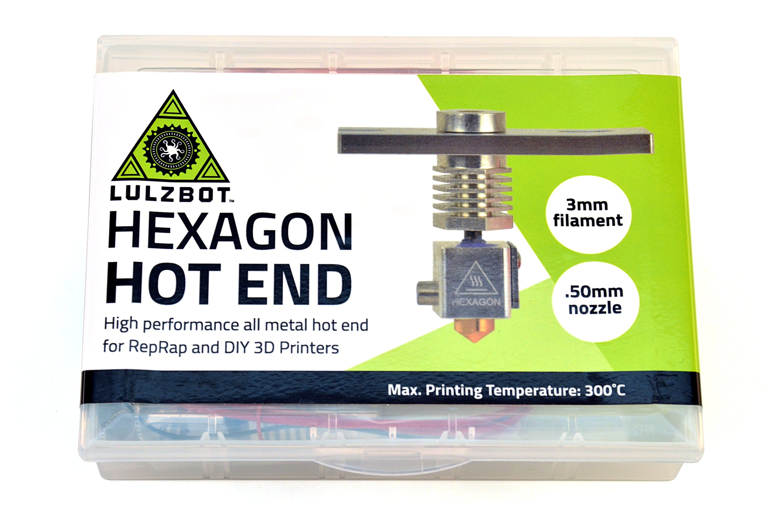 Hexagon Hot End Kit, LulzBot Edition, 3.0mm Filament, 0.50mm Nozzle