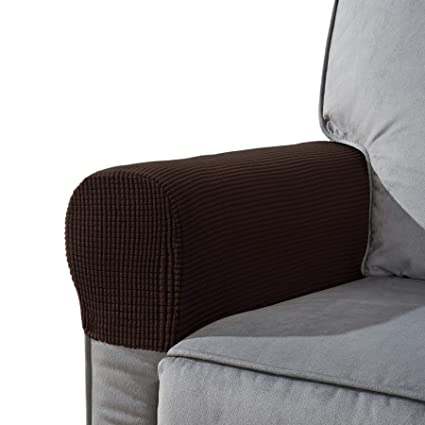 Awe Inspiring Chun Yi Set Of 2 Stretch Polyester Sofa Armchair Armrest Covers Slipcovers Furniture Protector Spandex Fabric Jacquard Anti Stain Washable Couch Arm Alphanode Cool Chair Designs And Ideas Alphanodeonline