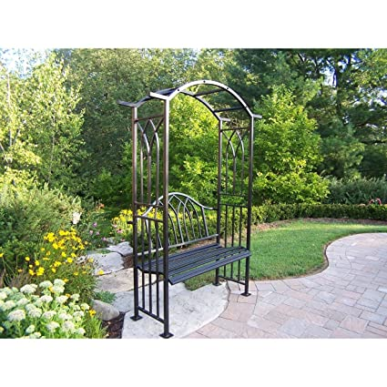 Good Oakland Living Royal Arbor With Bench, Black