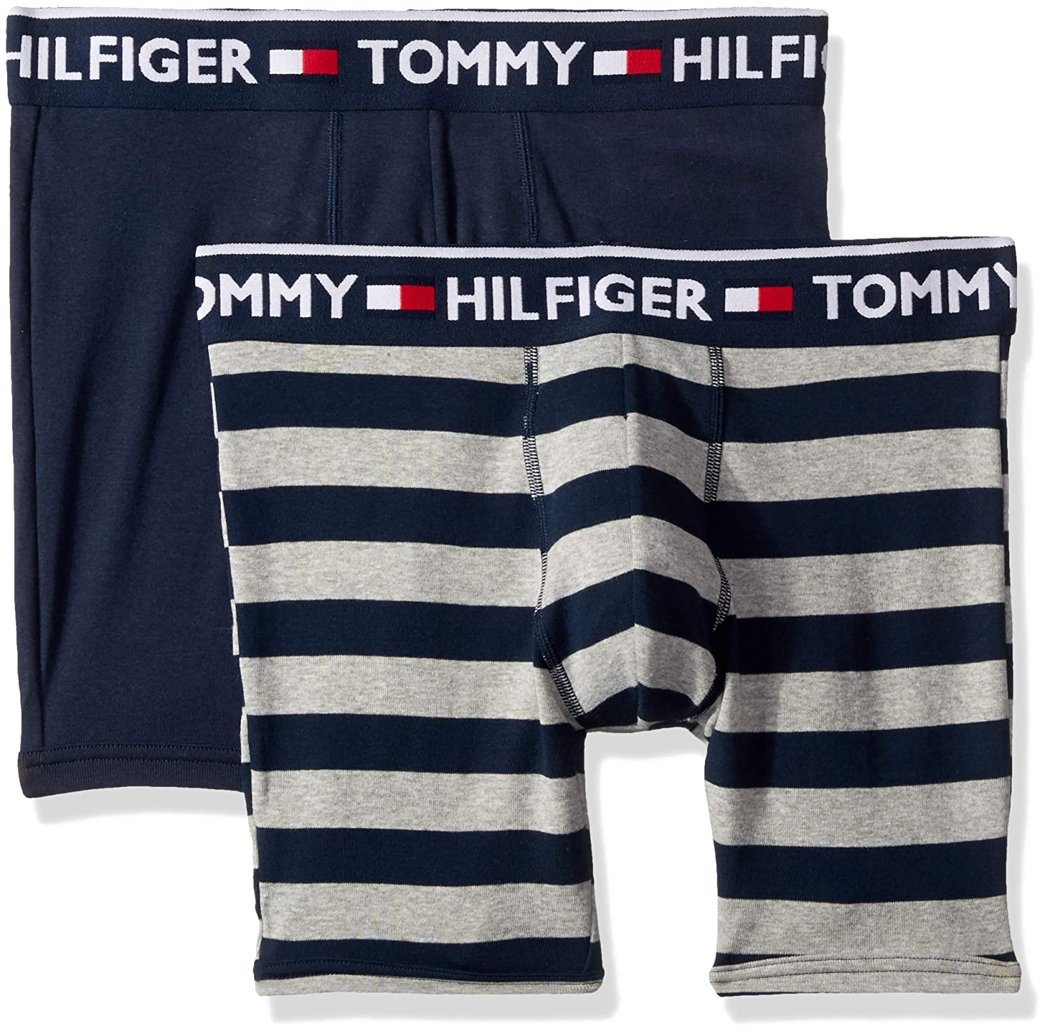 776b75a54dc55 Tommy Hilfiger Men s Underwear 2 Pack Bold Cotton Boxer Briefs at Amazon  Men s Clothing store