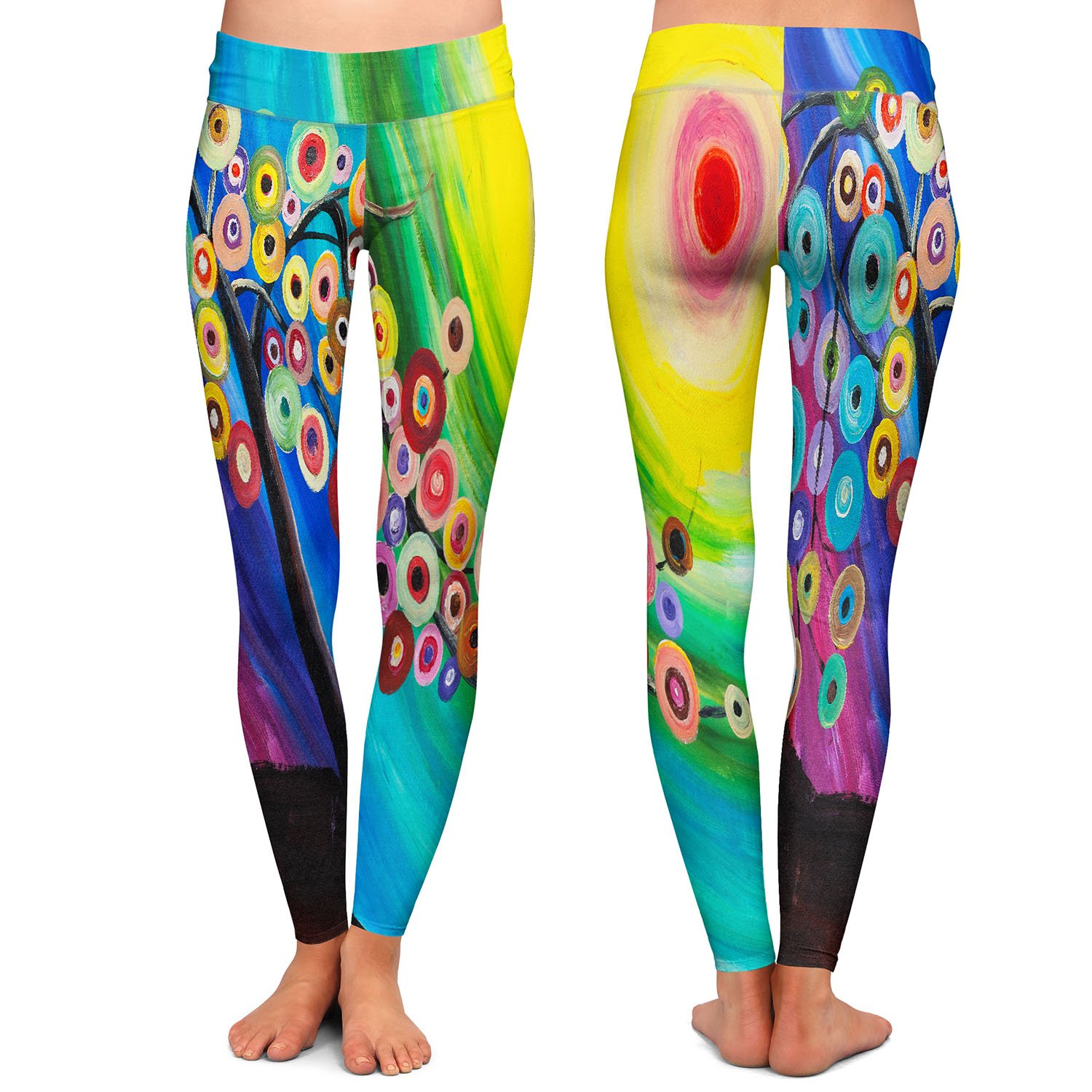 Athletic Yoga Leggings from DiaNoche Designs by Lam Fuk Tim Color Tree XVI