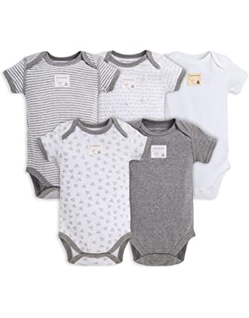 98aa258182aa9 Burt's Bees Baby Unisex Baby Bodysuits, 5-Pack Short & Long Sleeve One-