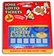Joke Lotto Tickets - 3 Fake Winning Scratch Cards
