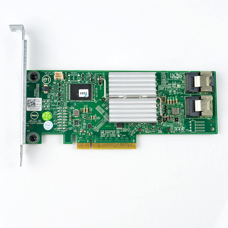 SATA RAID Controller DELL 018XYD Dell PERC H310 Adapter HV52W 6.0Gb//s SAS Renewed