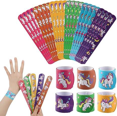 Mwoot Slap Pulseras Niños,24 Piezas Bandas de bofetadas Unicorn ...