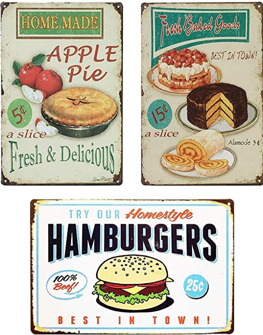 Hot Dogs Extra Large Retro Metal Tin Signs Ads Poster Art Wall Decor Hanging